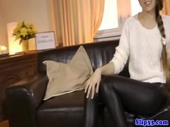 Play videotape recording category stockings (600 sec). Glamcore teen doggystyled in POV by old man.