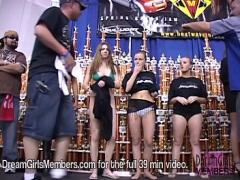 Best video link category real_amateur (609 sec). Tiny Bikini Contest At Texas Car Show.