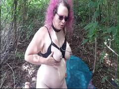 Best video link category milf (611 sec). Amateur MILF NaughtyNyara plays with her pussy in the park.