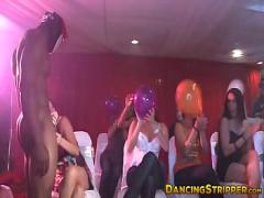Full x videos category blowjob (300 sec). Masked stripper receives blowjobs from naughty bachelorettes.