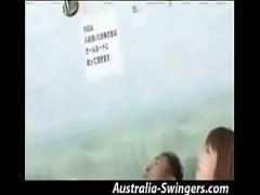 Full stream video category blowjob (419 sec). Japanese couple having fun in Swingers Club - Part 1.
